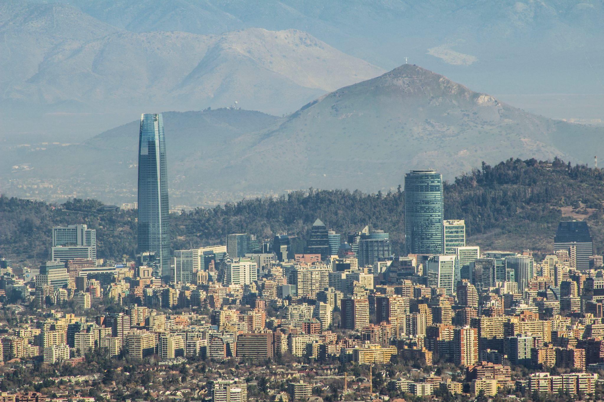 Photo of Santiago, Chile skyline with mountains in the background